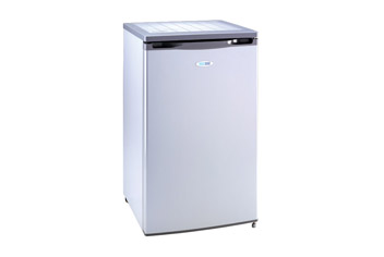 Silver Undercounter Larder Fridge with Large Capacity