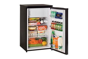 Black Undercounter Fridge with 2 Star Frozen Food Compartment