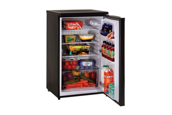 Black Undercounter Larder Fridge with Large Capacity