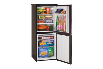 Slimline Black Fridge Freezer