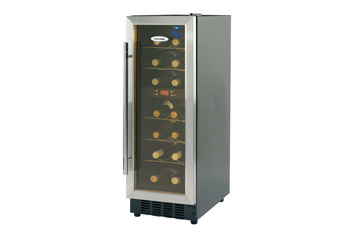 Slimline Undercounter Digital Wine Chiller holds up to 14 Wine Bottles