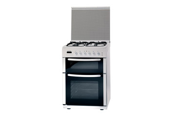 60cm Twin Cavity Dual Fuel Cooker