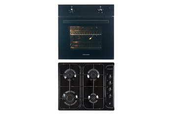 60cm Single Fan Oven and Gas Hob Pack